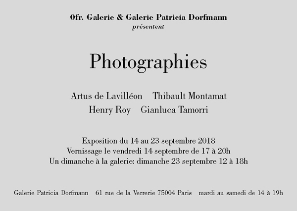 PHOTOGRAPHIES / Carte blanche à Ofr.Galerie