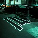 Electric Shadows -  Banc public, Montmartre, Paris 2000